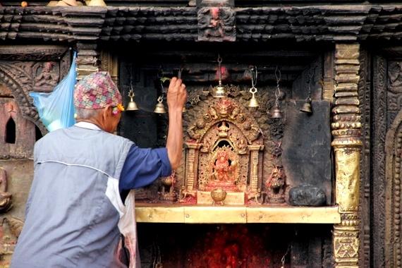 kathmandhu street shrines