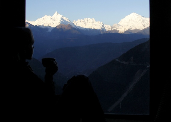 coffee with mountain views