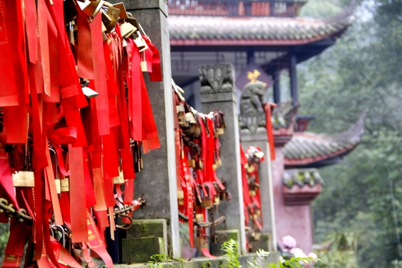 Locks of love at Chinese Temple