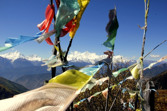 tibetan yunnan prayer flags
