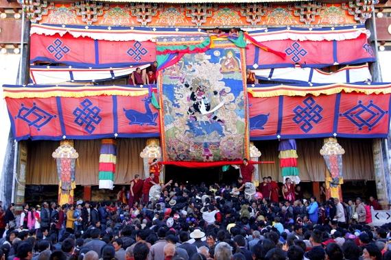 Thangka at Tibet Monestary