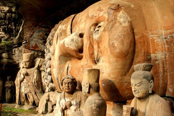This Sleeping Buddha of Dazu, China