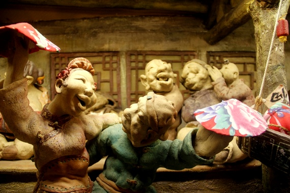 Chinese clay figures on Qianmen street