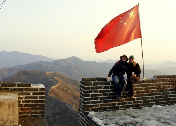 Tsingtao beers on The Great Wall