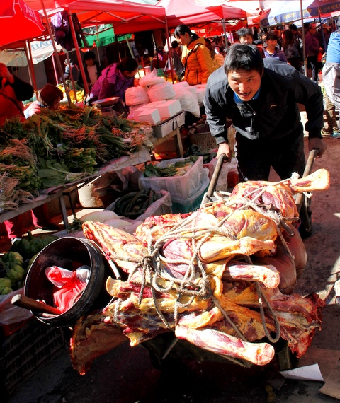 Crazy meat in China