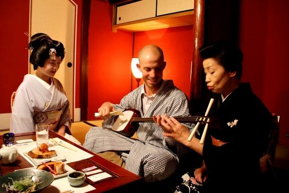 dinner with a Kanazawa geisha