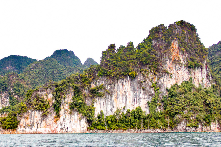 limestone cliffs of Cheow Lan Lake