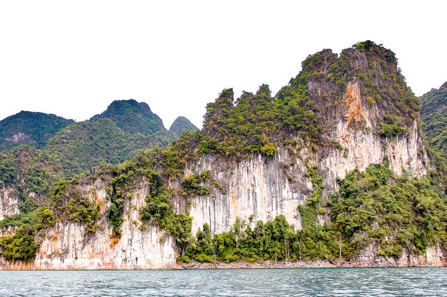 limestone cliffs of Cheow Lan Lake
