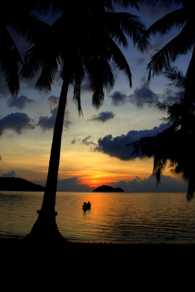 Sunset at Koh Phangan, Thailand