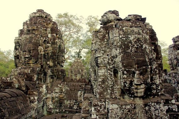 The Faces of Bayon Temple, Cambodia