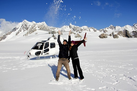 helicopter ride New Zealand glacier