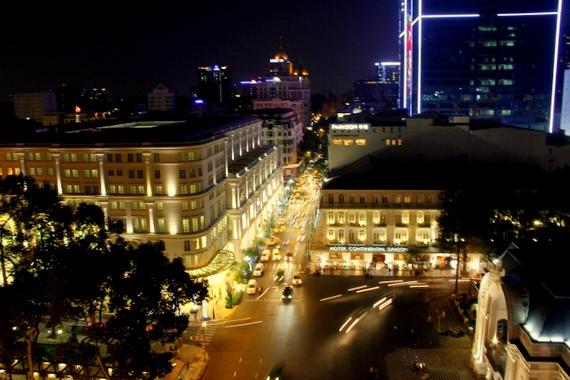 Rooftop bar Caravelle Hotel Saigon