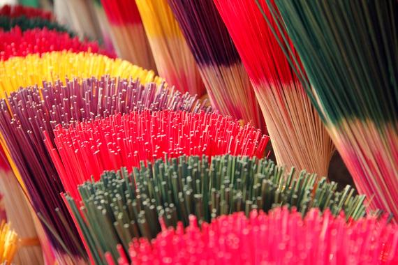 Colored incense