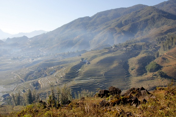Sapa Vietnam from mountain top