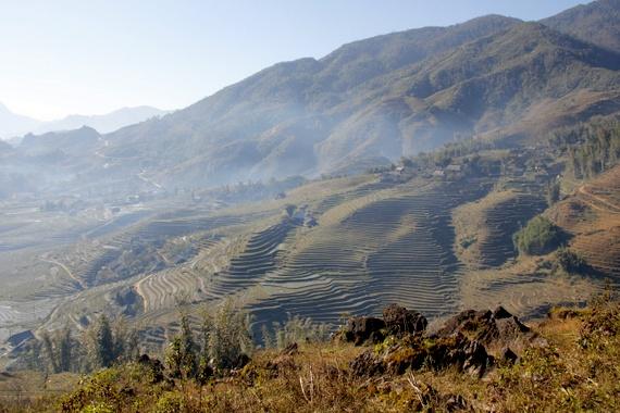 Sapa Vietnam from mountain top