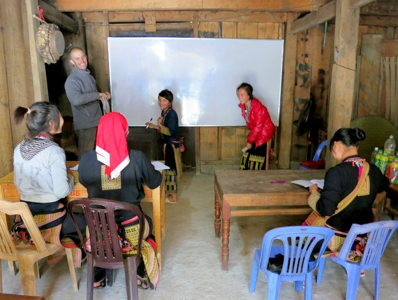 Mike Howard teaching english in Vietnam