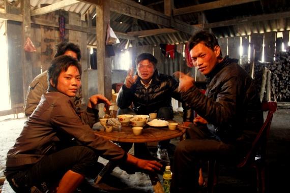 Red Dao village Ta Phin