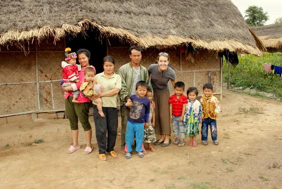 Host family in Muang Sing Laos