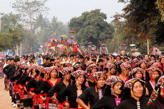 Laos The Elephant Festival Sayaboury