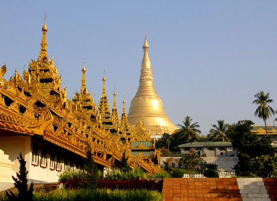 The Shwedagon Pagoda is 2,600 years old
