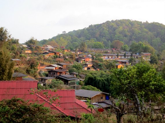 Remote village in Thailand