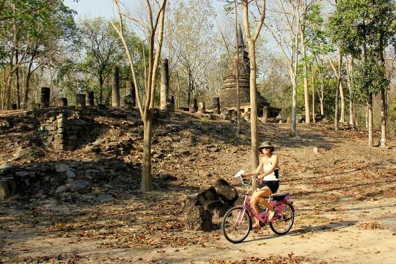 Biking the Temples of Sukhothai Thailand