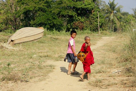 Happy Monks of Myanmar