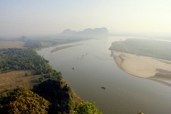 View over the Hpa-an river town