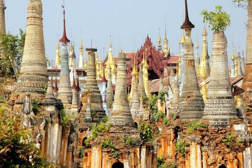 Indein Pagoda Inle Lake