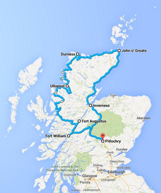Scotland Coastal Road Trip