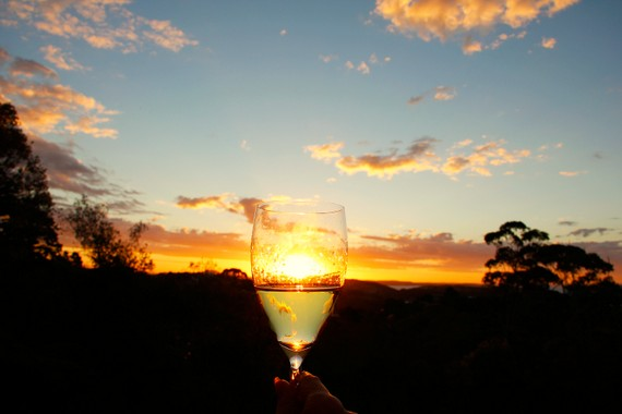 wine glass art photography
