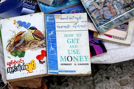Funny books in Myanmar