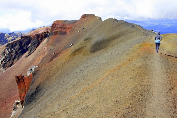 Hike the rim of a volcano New Zealand