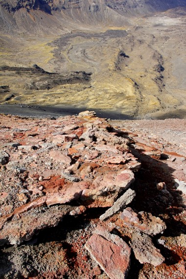 Rocks of Tongariro Alpine Crossing