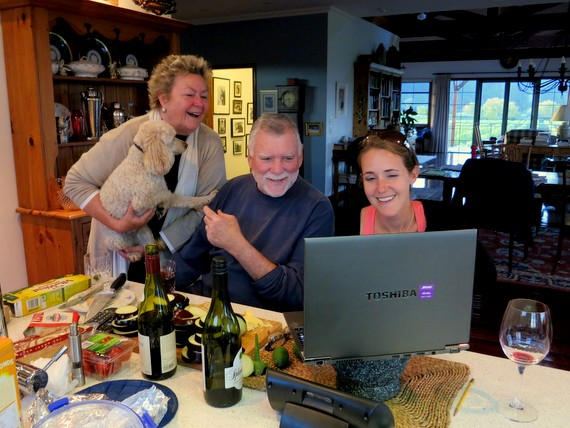 Family skyping