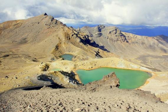 Green Lakes of Rocks of Tongariro