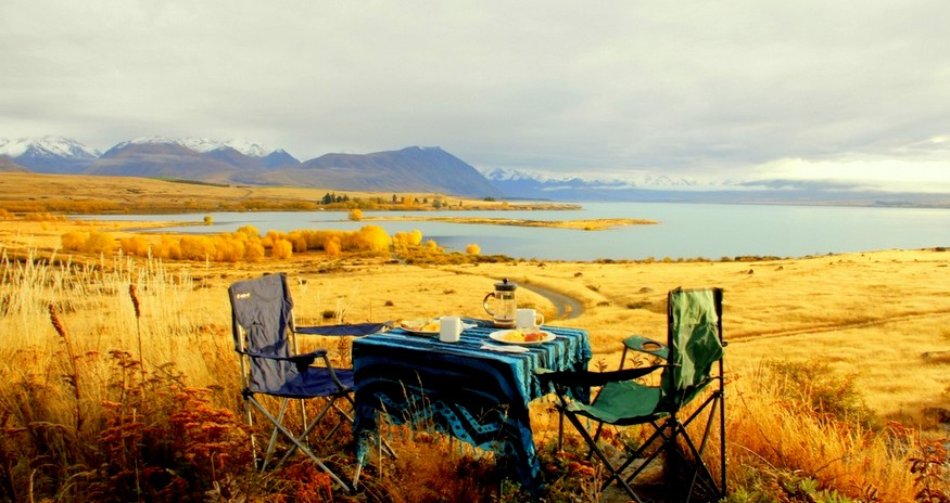 Fall in New Zealand Campervan