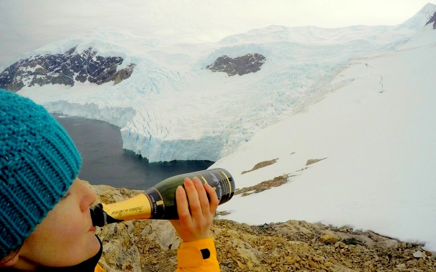 Champagne on Antarctica