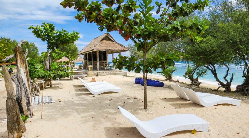 Chillin on the beach at Gili Eco Villas
