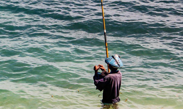 Local fisherman in Medana Bay, Lombok