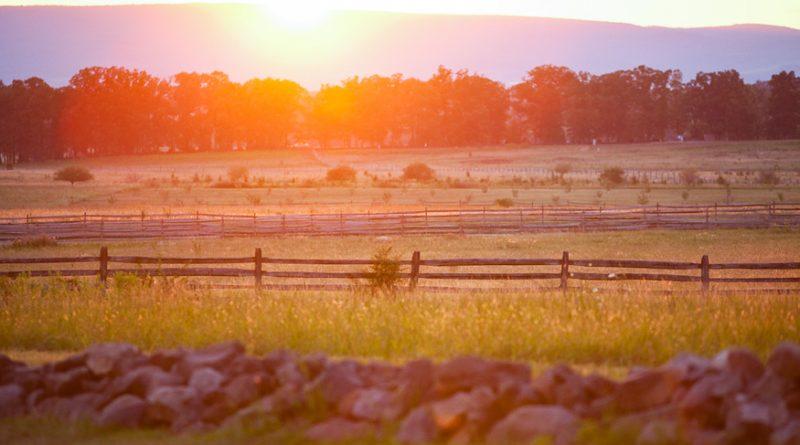 Sunset in Gettysburg