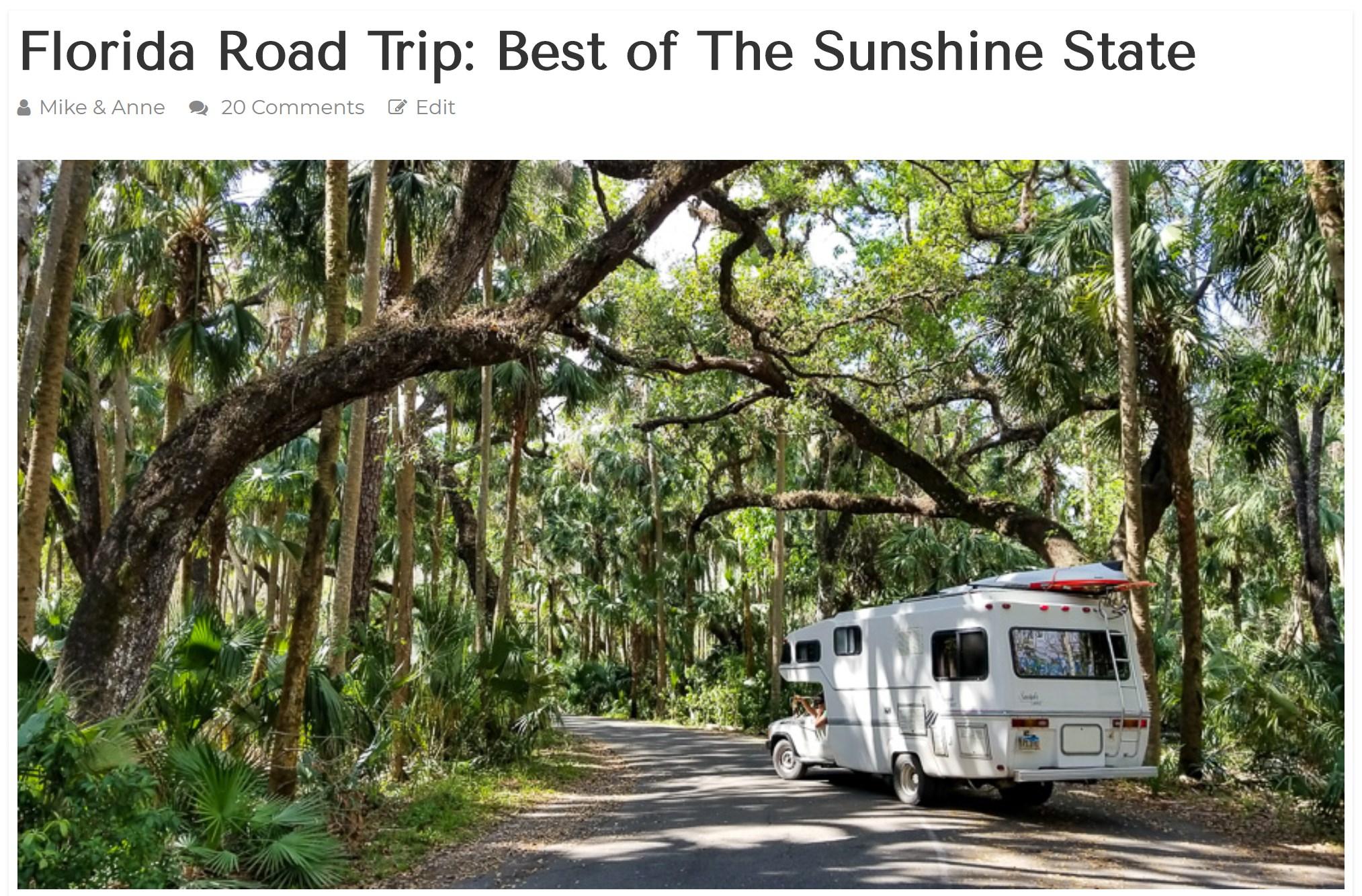 Floriday Road Trip