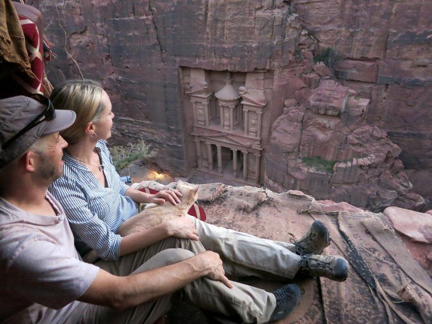 Petra Treasury from above