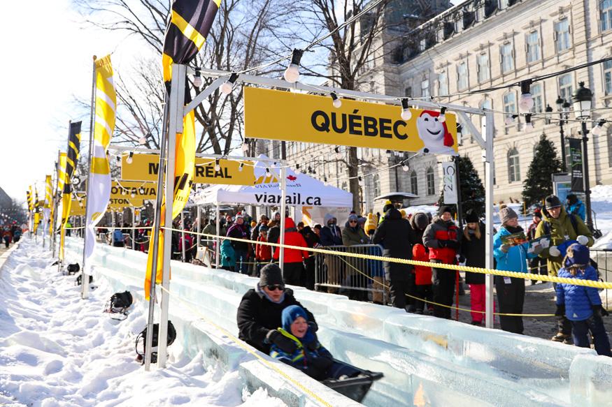 Grand Allee Ice Slide in Quebec