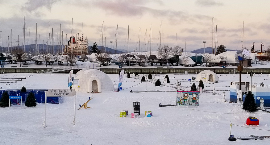 Village Nordik at Carnaval de Quebec at world's biggest winter carnival
