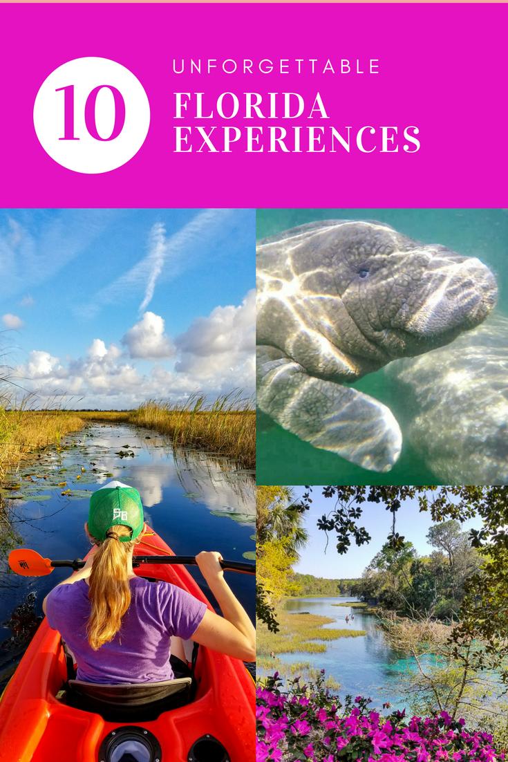 10 UNFORGETTABLE FLORIDA EXPERIENCES