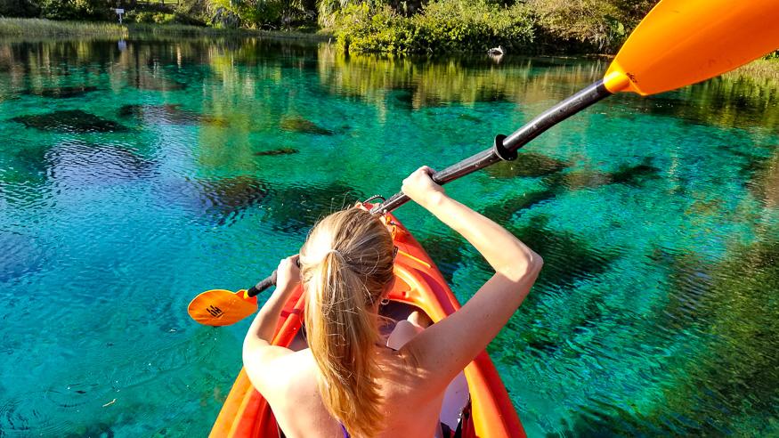 Kayaking Rainbow River Florida