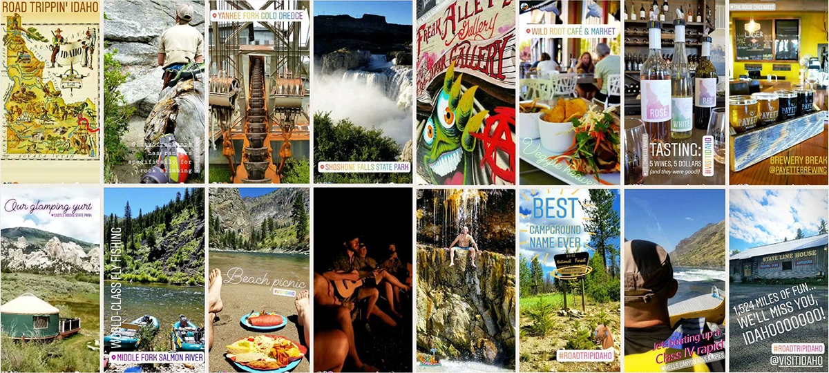 HoneyTrek Idaho Instagram Stories