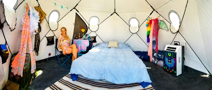 SHIFTPOD Interior Burning Man