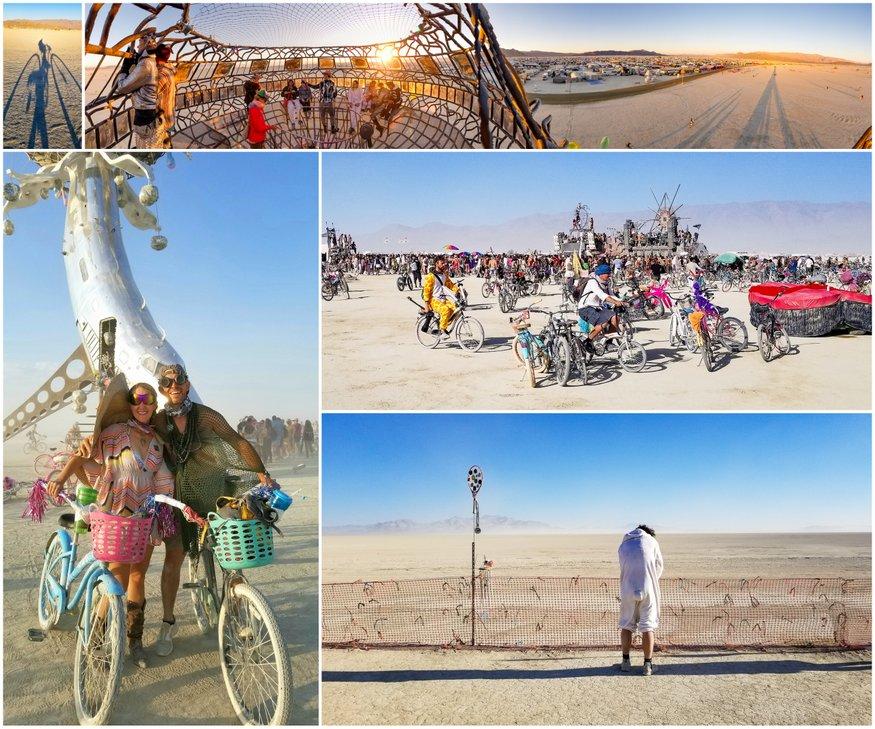Burning Man Trash Fence Parties
